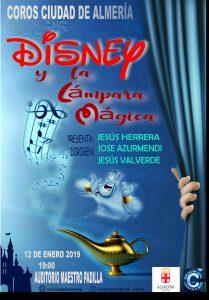 Coro ciudad de Almeria presenta su concierto Disney y la lámpara mágica