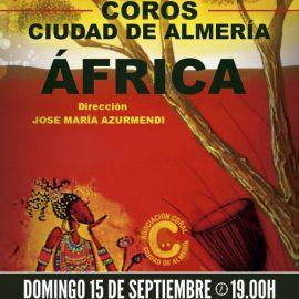 Cartel concierto Africa Coro Ciudad de Almería