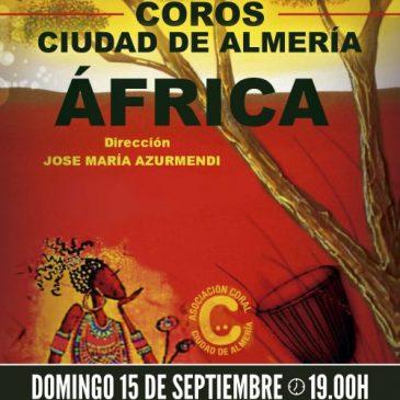 Nuestro espectáculo Africa en el Teatro Cervantes el próximo 15 de septiembre